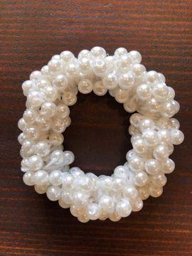 Hårelastik med perler